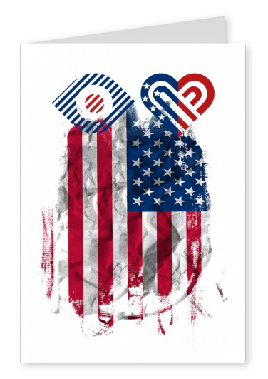 illustration Eye-love USA flag