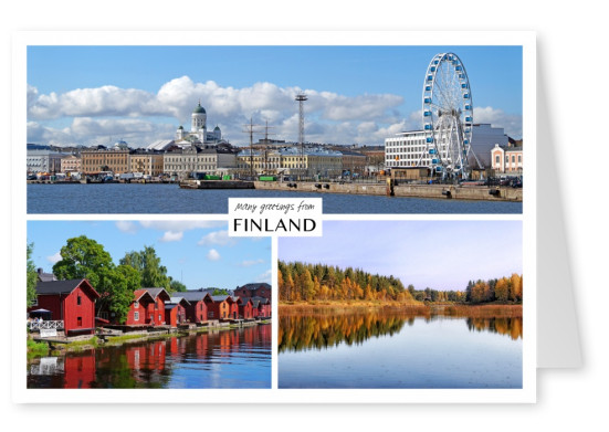 Three photos of Finland