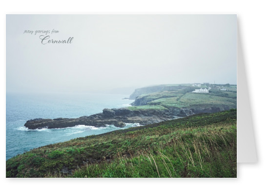 Greeting card from Cornwall with photo of the fishing village in Port Isaac