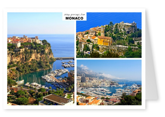 Three photos of monaco – port and city