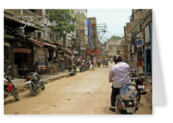 Greetingcard from New Delhi with city view