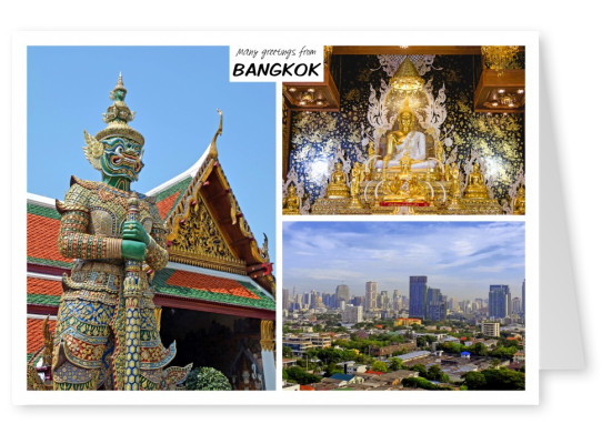 Three photos of Bangkok in Thailand