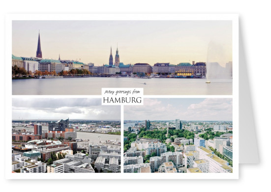 Three photos of Hamburg