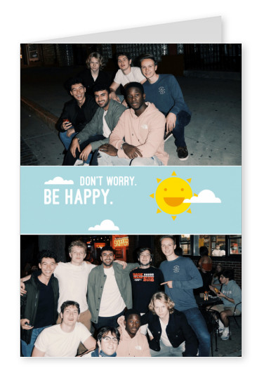 Postcard Happiness Project don't worry. be happy.