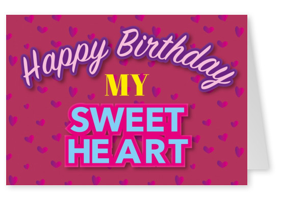 happy birthday my sweetheart postcard