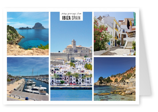 five photos of the island ibiza