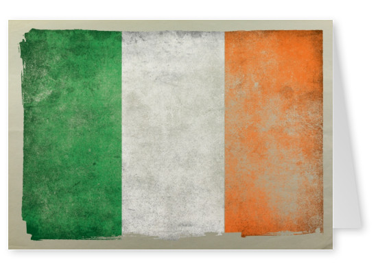 Ireland vacation greeting cards send real postcards online postcard with flag of ireland m4hsunfo