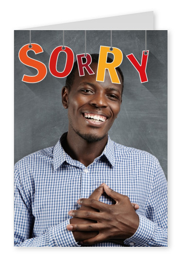 personalizable  postcard to say sorry