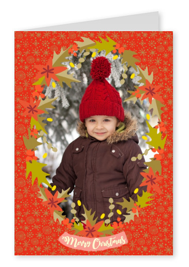 Personalizable christmas card with christmacy plants