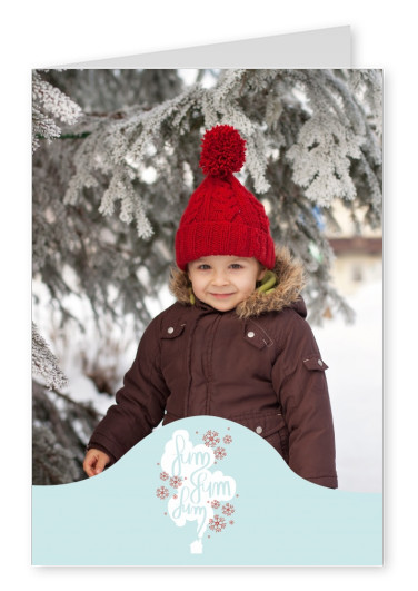 Personalizable christmas card with a little smoking house