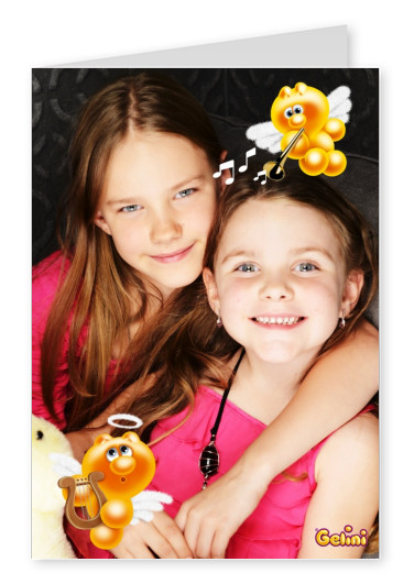 Personalizable greeting card from Gelini for one photo