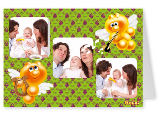 Personalizable greeting card from Gelini for three photos