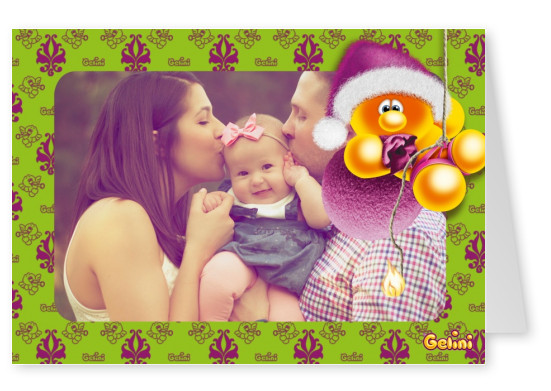 Personalizable Gelini greeting card for Christmas
