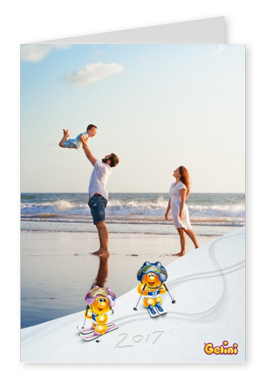 Personalizable greeting card from Gelini for the new year