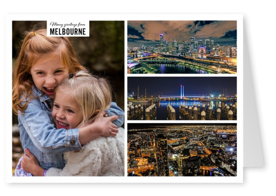 Personalizable greeting card from Melbourne Australia with photos