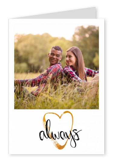 Personalizable love postcard with a heart