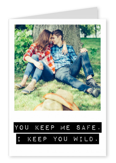 personalizable love postcard with a statement