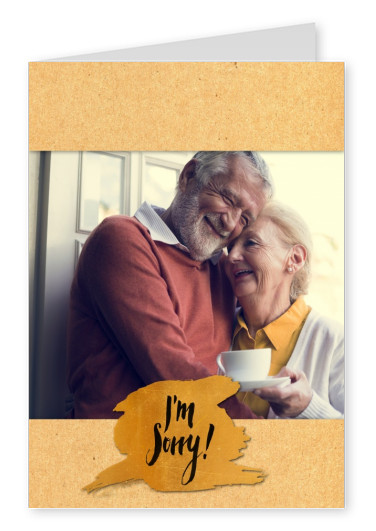 personalizable golden postcard