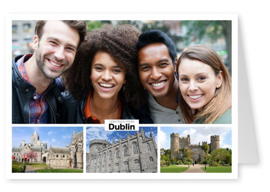 dublin triple photocollage of historic castles