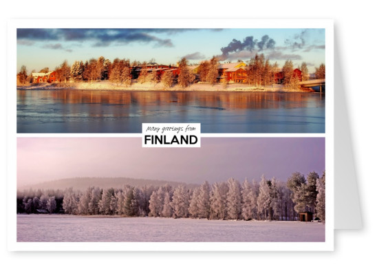 two panoramic photos of finnish landscapes
