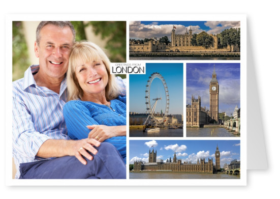 london photocllage showing big ben and london eye plus others
