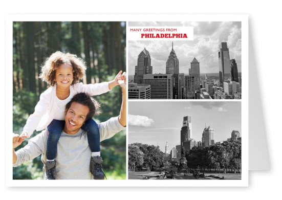 black and white photocollage of philadelphia