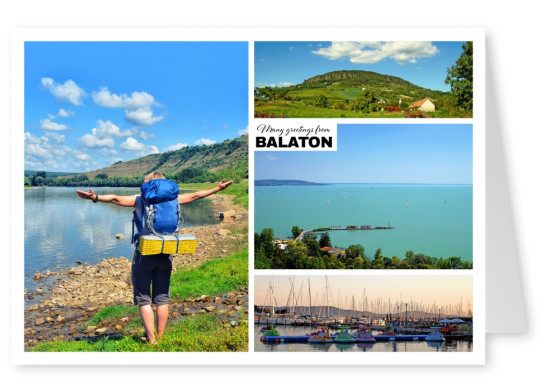 photocollage of balaton, hungary