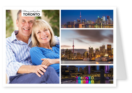 photocollage toronto skylines
