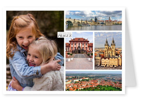 photocollage of Prague's main places of interes