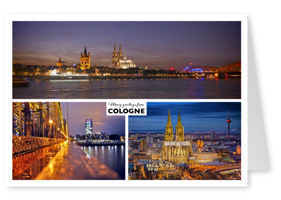 triple photocollage of Cologne