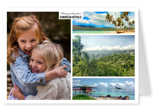 triple photocollage of dominican republic
