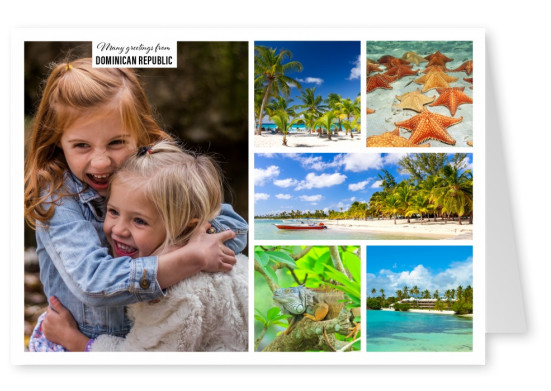 multipic photocollage of the dominican reppublic with wonderful beaches