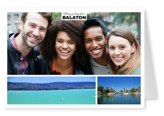 panoramic photocollage of balaton in hungary