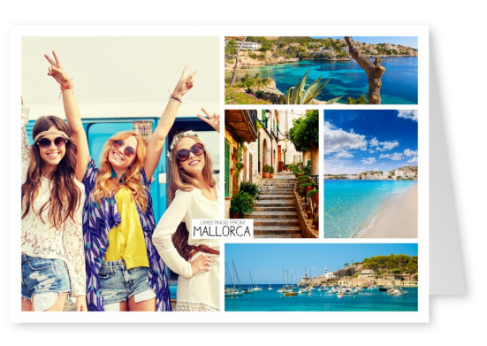 mallorca beache photocollage