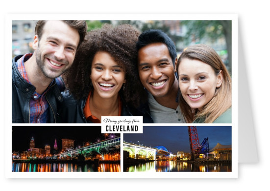 panoramic photocollage of cleveland at night