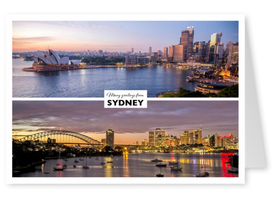 panoramic photocollage of sydne'y harbour skyline