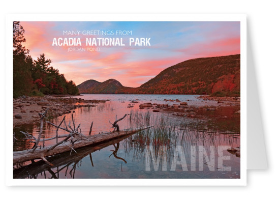 photo of acadia national park jordan pond in maine usa