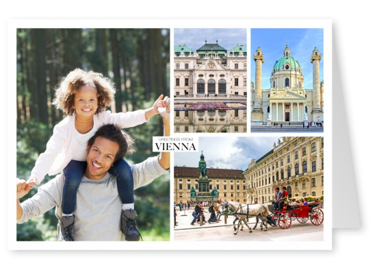 triple collage of Vienna's historic landmarks