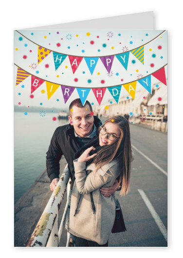 Bunting In Many Colors Happy Birthday Party Colorful Banner