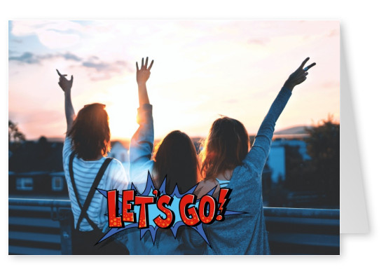 pop art speech bubble pop art style saying let's go as motivational quote