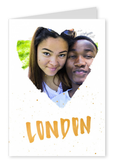 london in golden handlettering with splashes