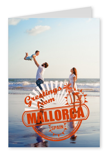 Mallorca stamp in red