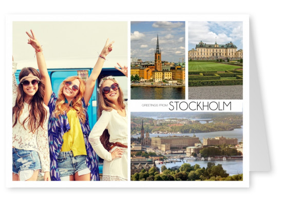 triple photocollage of Stockholm