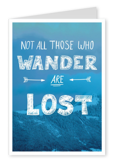 photo of mountains in blue whith wise quote in white lettering