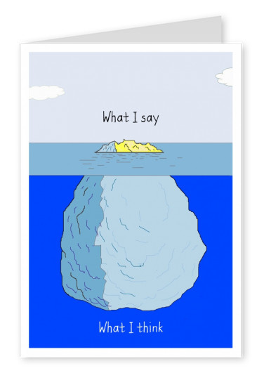 illustration of an iceberg with philosophical quote