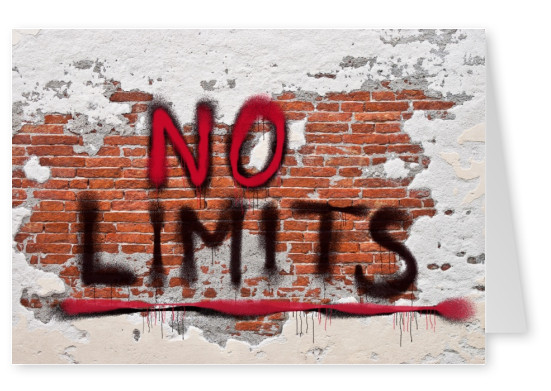 photo of bickstone wall with no limits graffiti