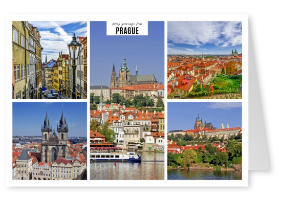 Five photos of city Prague in Czech Republic