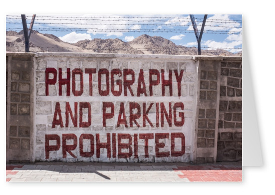 postcard Photography prohibited