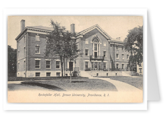 Providence, Rhode Island, Rockefeller Hall, Brown University