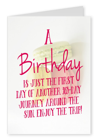 happy birthday quote postkarte